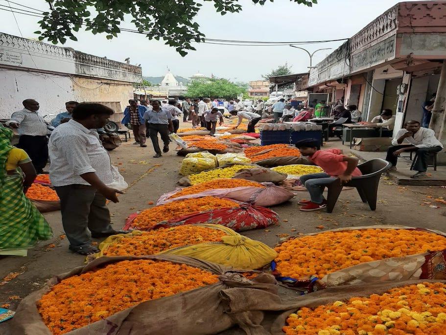 Fresh Flowers & Veggies Market Walk